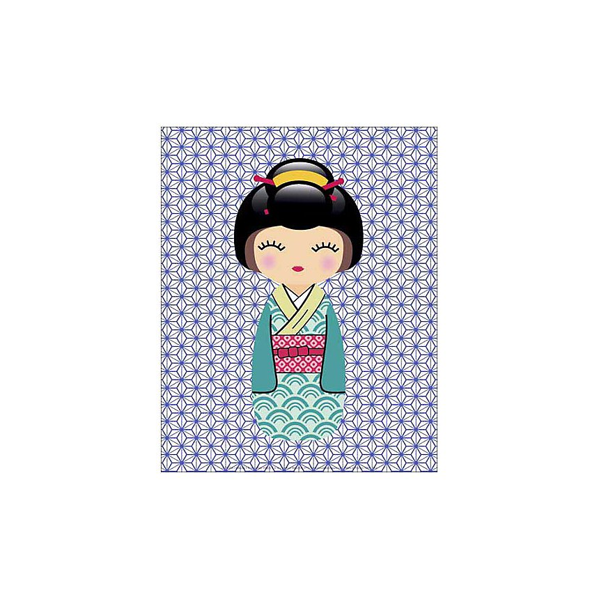 Kokeshi 1 , LADYLEIA, affiche 24x30 cm
