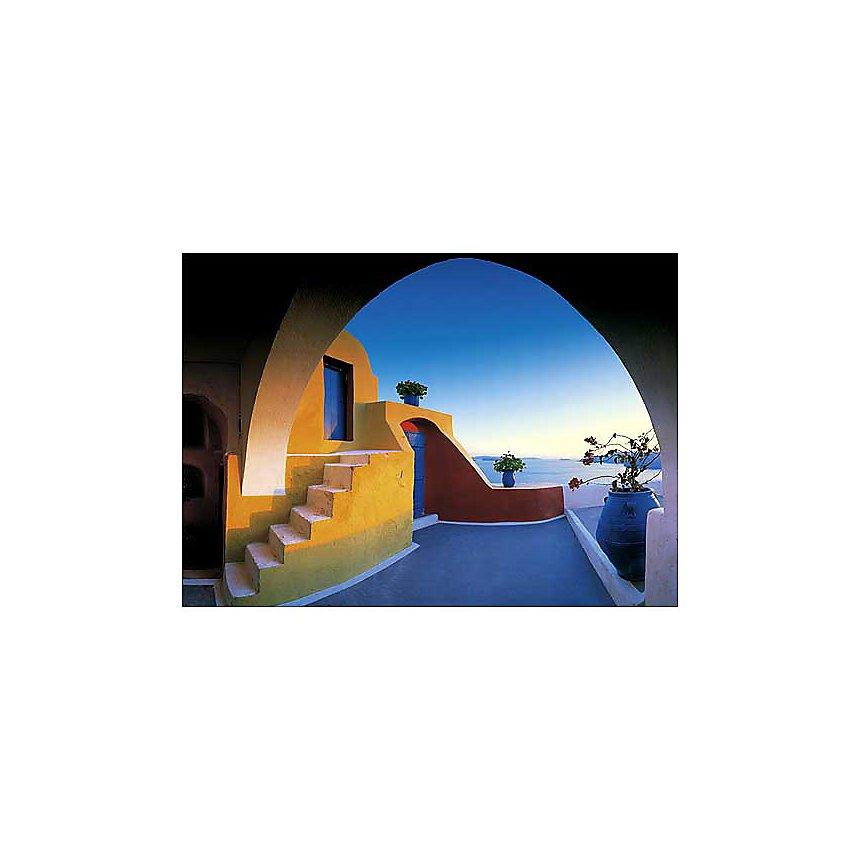 Santorin , Georges MEIS, affiche 50x70 cm
