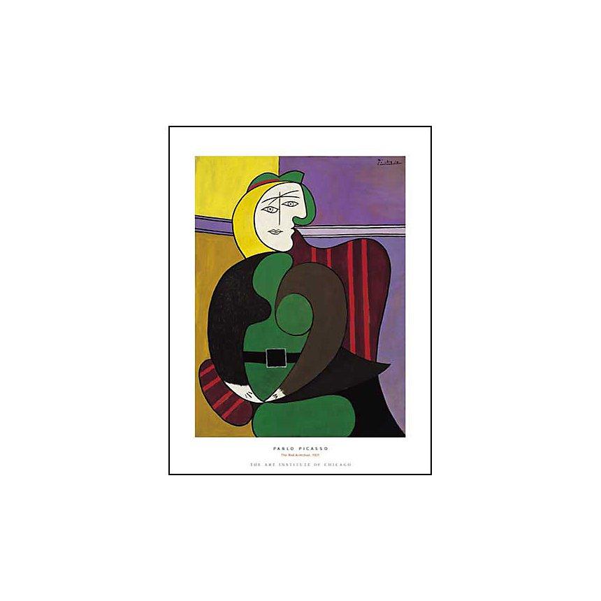 Le fauteuil rouge, 1931, Pablo PICASSO (1881-1973), affiche 60x80 cm