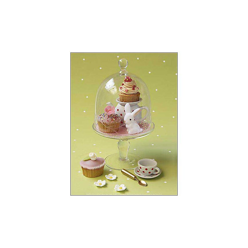 Cupcakes et fleurs, Camille SOULAYROL, Louis GAILLARD, affiche 30x40 cm