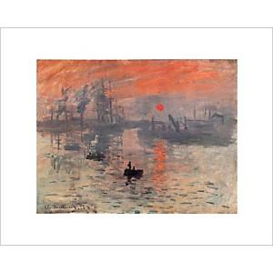 Impression, soleil levant, Claude MONET (1840-1926), affiche 24x30 cm