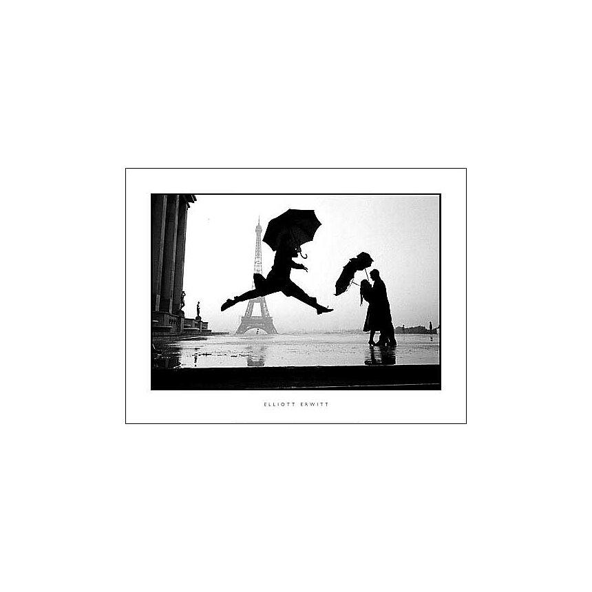 France, Paris, 1989, 100e anniversaire de la Tour Eiffel, Geburtstag , Elliott ERWITT, affiche 60x80 cm