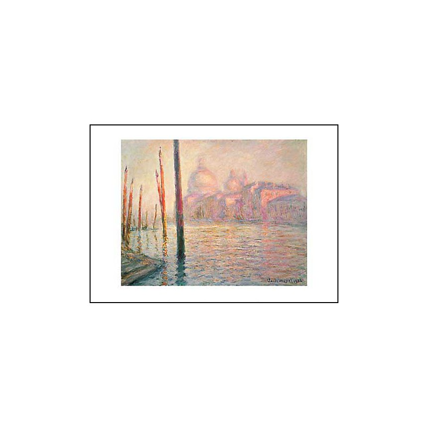 Vue de Venise, Claude MONET (1840-1926), affiche 50x70 cm