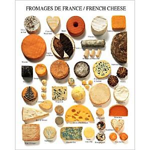 Fromages de France, Atelier Nouvelles Images, affiche 40x50 cm