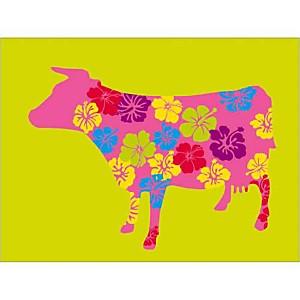 Vache fleurie, Lyonel MAILLOT, affiche 30x40 cm