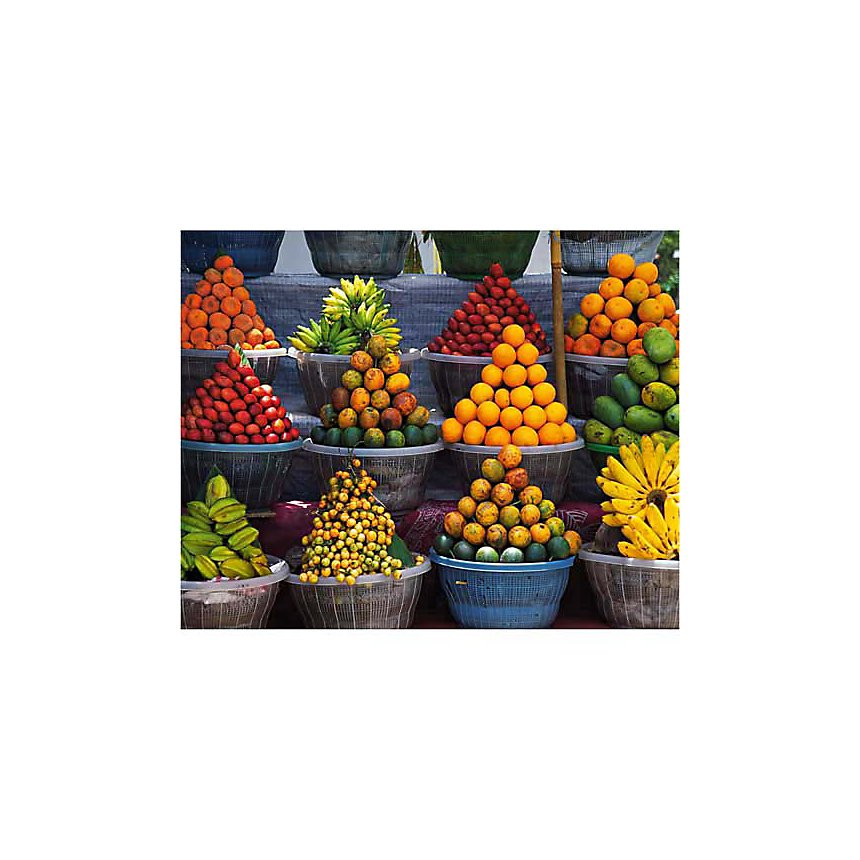 Stand de fruits, Est de Bali, Indonésie, PHOTO RESOURCE HAWAI, affiche 24x30 cm
