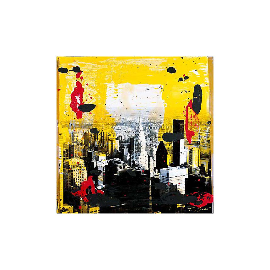 Yellow City , Tony SOULIE, affiche 70x70 cm