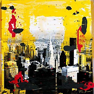 Yellow City , Tony SOULIE, affiche 70x70