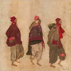 Nomades, LAMIEL, affiche 30x30 cm