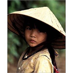 Fillette vietnamienne, banlieue de Saigon, Keren SU, affiche 24x30 cm