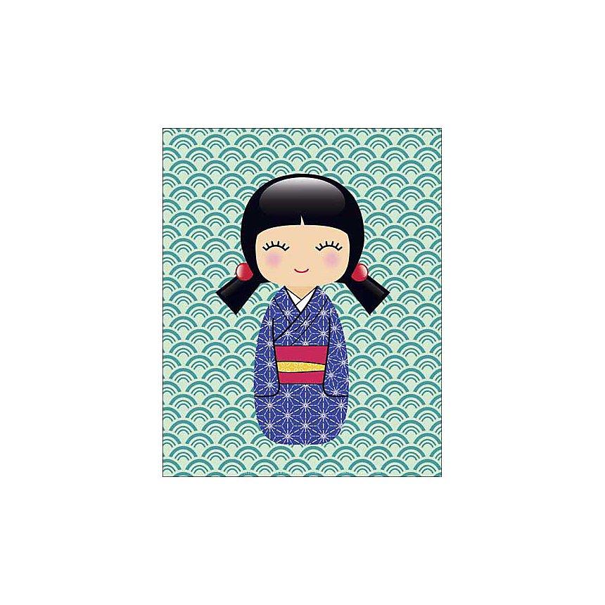 Kokeshi 2 , LADYLEIA, affiche 24x30 cm
