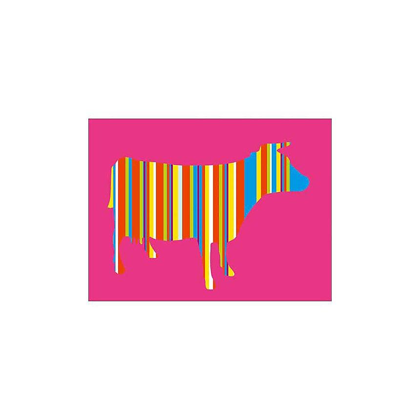 Vache rayée, Lyonel MAILLOT, affiche 30x40 cm
