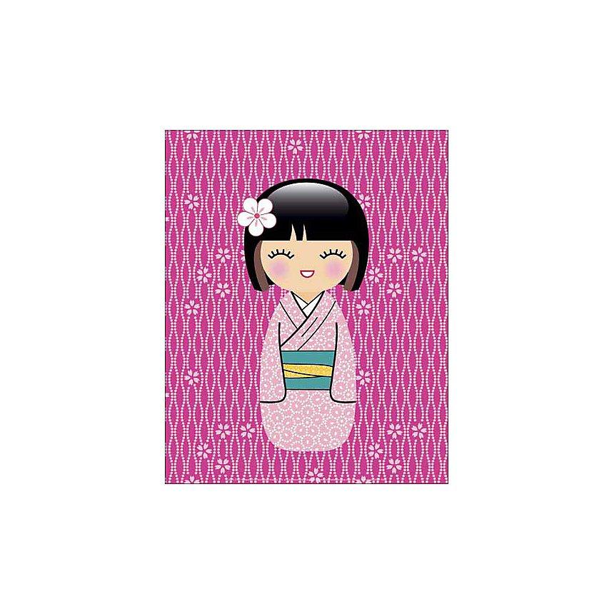 Kokeshi 3 , LADYLEIA, affiche 24x30 cm