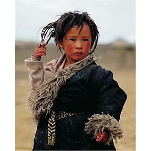 Petit garçon, Tibet, PANORAMA STOCK, affiche 24x30 cm