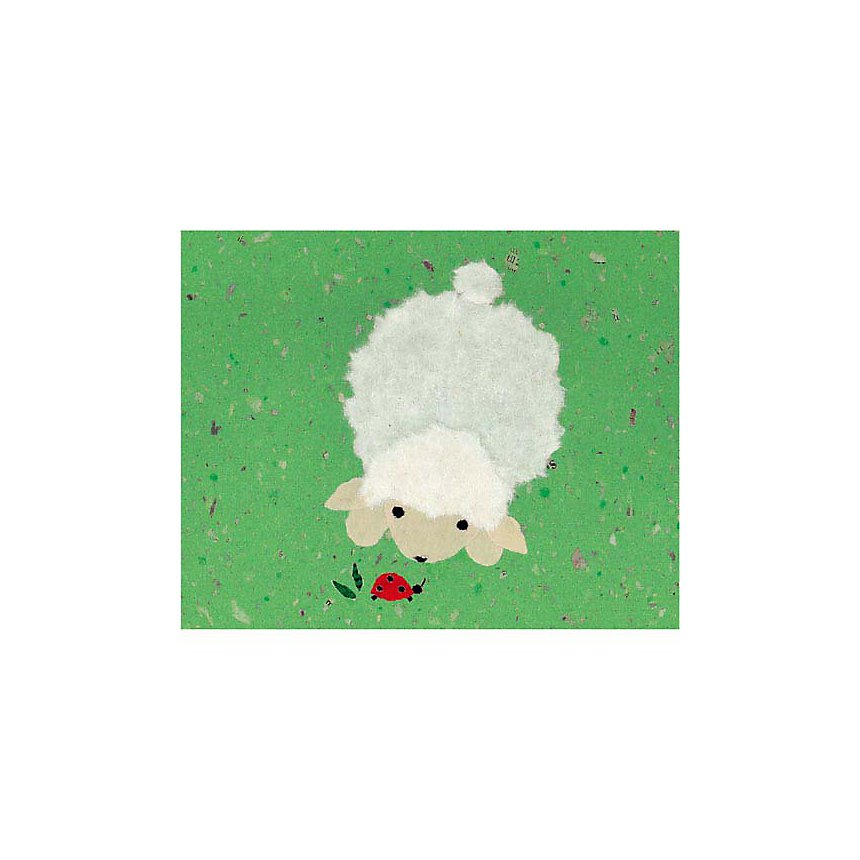 Petit agneau et la coccinelle, Coby HOL, affiche 24x30 cm