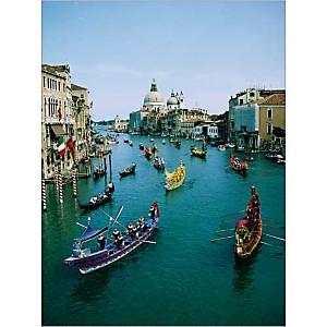Course de gondoles sur le Grand Canal, Venise, Italie, STEPHENSON, affiche 30x40 cm