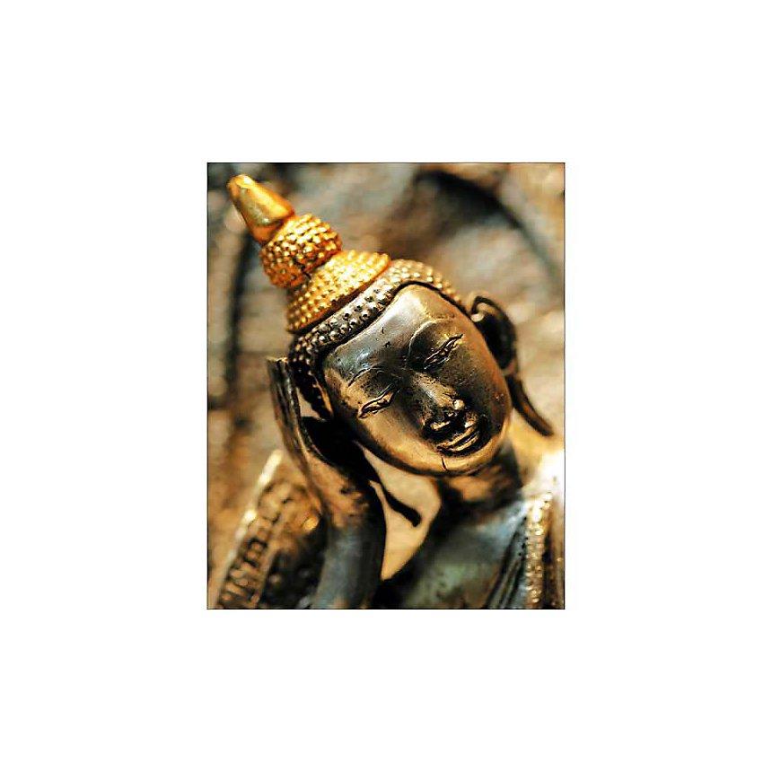Bouddha doré, WALLIS, affiche 24x30 cm