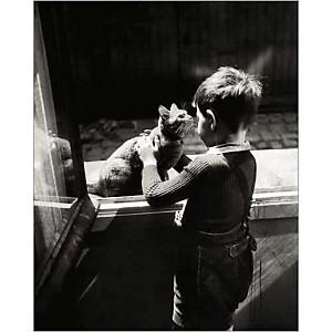 Le chat de la concierge, Willy RONIS (1910-2009), affiche 24x30 cm