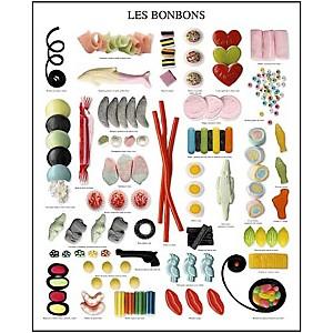 Les bonbons, Atelier Nouvelles Images, affiche 40x50 cm
