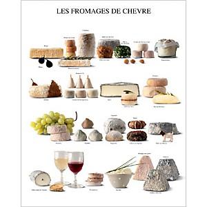 Les fromages de chèvre, Atelier Nouvelles Images, affiche 40x50 cm