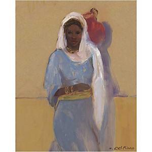 Adjoua , Isabelle DEL PIANO, affiche 40x50 cm