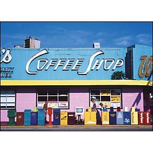 Coffee shop, Floride, Etats-Unis , Sylvain GRANDADAM, affiche 50x70 cm