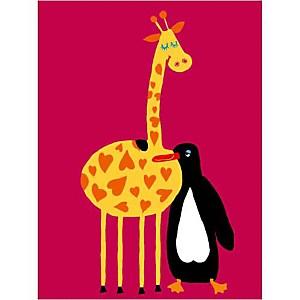 L'amour d'une girafe et d'un pingouin..., Andrée PRIGENT, affiche 30x40 cm