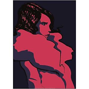 Manteau rose, Franckie ALARCON, affiche 50x70 cm