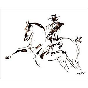 Le pas espagnol, Victor MARTINEZ, affiche 40x50 cm