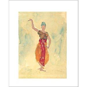 Danseuse Cambodgienne, Auguste RODIN (1840-1917), affiche 40x50 cm