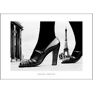 Chaussures et tour Eiffel, Paris, 1974, Frank HORVAT, affiche 50x70 cm