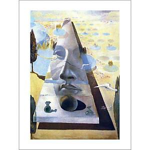 Apparition du visage de l'Aphrodite de Cnide dans un paysage, Salvador DALI (1904-1989), affiche 60x80 cm