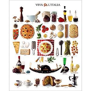 Saveurs d'Italie , Atelier Nouvelles Images, affiche 40x50 cm