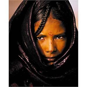 Jeune femme Touareg, Niger, Jean-Luc MANAUD, affiche 24x30 cm