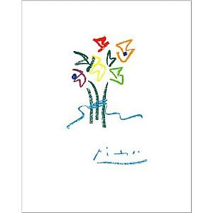 Fleurs du soir, Pablo PICASSO (1881-1973), affiche 40x50 cm