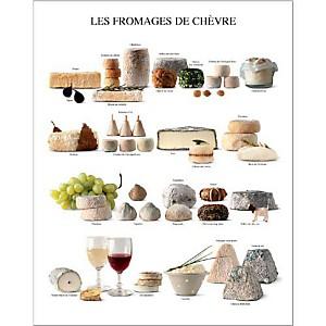 Les fromages de chèvre, Atelier Nouvelles Images, affiche 24x30 cm