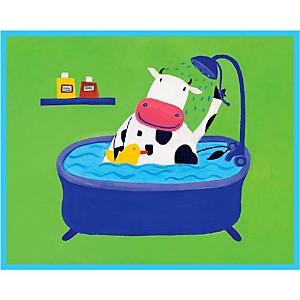Sous la douche, Annabelle LECHAT, affiche 24x30 cm