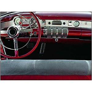 Tableau de bord, 1950's, CAR CULTURE, affiche 60x80 cm