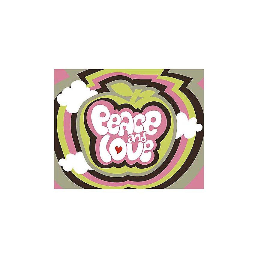 Peace and love , Béatrice PATRAT-CANARD, affiche 24x30 cm