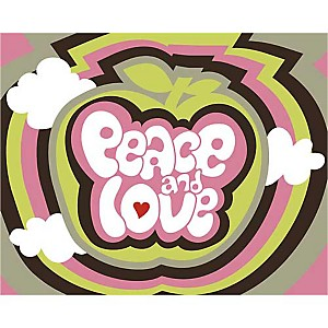 Peace and love , Béatrice PATRAT-CANARD, affiche 24x30 cm