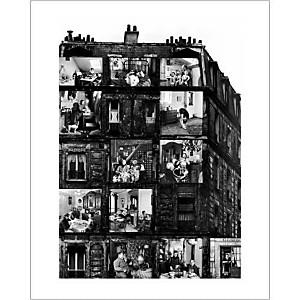 La maison des locataires, 1962, Robert DOISNEAU (1912-1994), affiche 24x30 cm