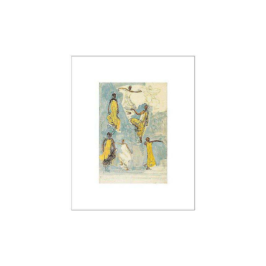 Danseuses Cambodgiennes, Auguste RODIN (1840-1917), affiche 40x50 cm