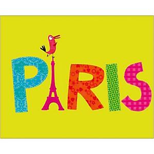 Paris Perroquet, Nathalie CHOUX, affiche 24x30 cm