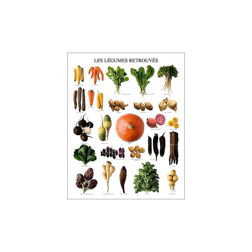 Les légumes retrouvés, Atelier Nouvelles Images, affiche 40x50 cm