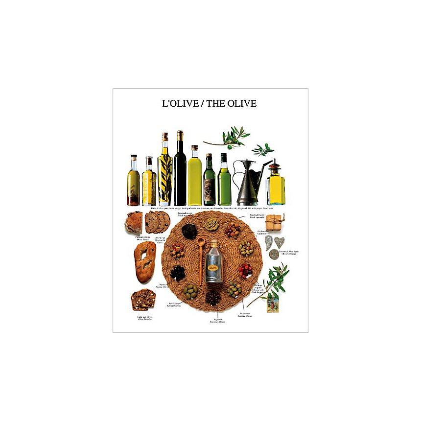 L'olive, Atelier Nouvelles Images, affiche 40x50 cm