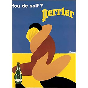 Perrier , VILLEMOT, affiche 60x80 cm