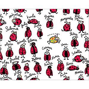 Les coccinelles, Andrée PRIGENT, affiche 24x30 cm