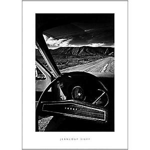 Le volant de la Dodge (Vallée de la mort, Californie, 1977), Jeanloup SIEFF (1933-2000), affiche 50x70 cm