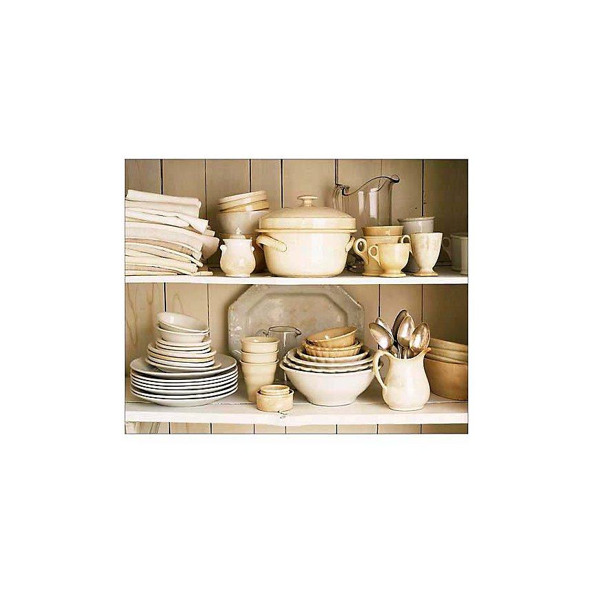Vaisselle blanche, Ellen SILVERMAN, affiche 24x30 cm
