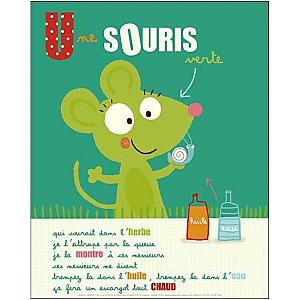 Une souris verte , Isabelle JACQUE, affiche 24x30 cm